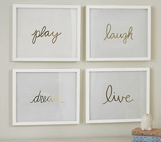 Gold Sentiment Inserts // Inspire your family every day with these simple words.