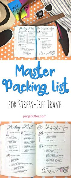 Master packing list for tree-free travel. For my blogging conference? (Diy Geschenke Reisen)
