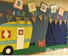 camper bulletin board camping theme classrooms
