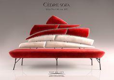 Cedre Sofa . Designer MONZER Hammoud . Pont des Arts Studio - Paris