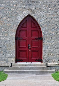 Anglican door Galt | One of two beautiful doors at Trinity Anglican church in Galt (now part of Cambridge) Ontario.