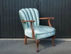 Mint velvet side chair with wood frame. Side Chairs, Accent Chairs, Lounge, Wood, Furniture, Zelda, Home Decor, Upholstered Chairs, Airport Lounge
