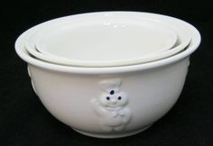 Vintage Set of 3 Pillsbury Dough Boy Nested Nesting Mixing Bowls 1988 Portugal