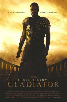 GLADIATOR. Russell Crowe. The best ever.  The scenery recreated for ancient Rome is crazy good. The clothes and hair jewelry... the architecture... that would be enough for me, but the story is crazy good. And what's not to like about a buff Russell Crowe??? ;)