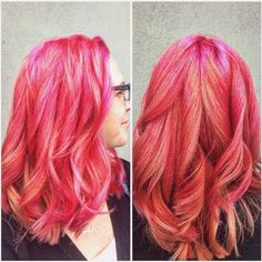 A little coral and a little pink makes you look super sweet! Hair by Deona Hurd. Denver Colorado, New Beginnings, Cut And Color, Pink Hair, Salons, Short Hair Styles, Hair Cuts, Stylists, Coral