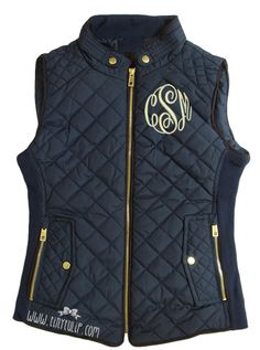tinytulip.com - Monogrammed Navy Quilted Vest , $62.50 (http://www.tinytulip.com/monogrammed-navy-quilted-vest)