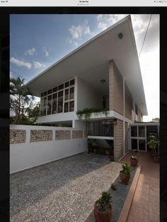 Mid century modern house Havana Cuba