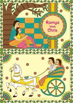 south indian wedding cards, south indian caricatures , south indian illustrations                                                                                                                                                      More