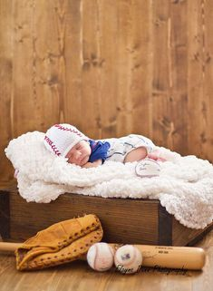 Newborn 06 Month Boy Baseball Hat......Baby by smittenwithknitn, $23.99