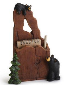 Black Bear Key Holder Cabin Wall Hooks Rustic Lodge Key Caddy Big Sky Carvers