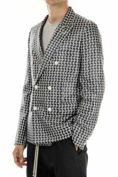 Comme des Garcons black and white patterned jacket (art. E2CG-PI.J056.051)