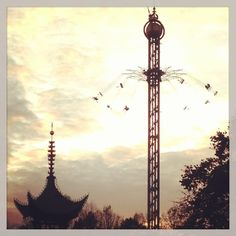 Tivoli, Copenhagen. The view from this ride is amazing