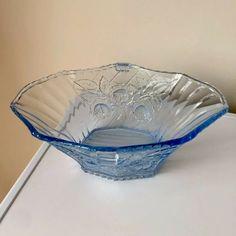 British Straightforward Art Glass Bowls X 2