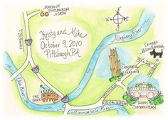 Gorgeous illustrated map!
