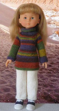 Pull manches raglan col roulé pour poupée Chérie: 1) http://marieetlaines.canalblog.com/archives/2014/07/11/29320641.html 2) http://p0.storage.canalblog.com/06/60/1066432/94619810.pdf
