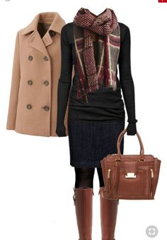 winter outfits scarf Cole Haan Boots Fall Winter O - winteroutfits Cute Office Outfits, Casual Outfits, Dress Casual, Outfit Office, Casual Shoes, Chique Outfits, Winter Office Outfit, Office Boots, Stylish Work Outfits