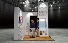 x Modular Exhibition Stand – 2 Exhibition Booth Design, Exhibition Stands, Slat Wall, Stand Design, Exhibition Stand Design, Booth Design