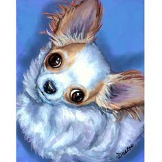Chihuahua Art 8X10 Print Painting by Dottie Dracos by DottieDracos, $12.00