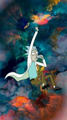 Rick and Morty Trippy Wallpaper, Cartoon Wallpaper, Wallpaper Backgrounds, Rick And Morty Quotes, Rick And Morty Poster, Rauch Tapete, Dragonball Anime, Rick I Morty, Dope Wallpapers