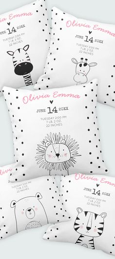 Lovely Baby shower gift or keepsake for your girl or boy nursery. Add your own b… Lovely Baby shower gift or keepsake for your girl or boy nursery. Add your own birth stats. Black and white monochrome nursery decor.