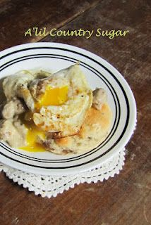 Sausage Biscuits & Gravy  This might be the most interesting recipe I've seen for biscuits and gravy!