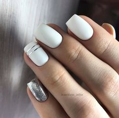 White Gel Nails, Gold Glitter Nails, Purple Nails, Square Gel Nails, Tape Nail Art, May Nails, Glamour Nails, Manicure E Pedicure, Luxury Nails