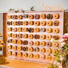 If you're currently faced with a wedding catering dilemma of 'chicken or fish', we're just going to stop you right there. Your wedding is the perfect time to express your vision. We love the wall of DONUTS!