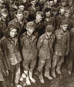 A group of German prisoners.
