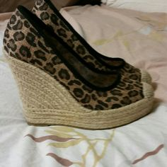Wedge high hill shoes Love love love these shoes, they are a reposh,  they are a size 7 . Just to small for me. groove Shoes Wedges