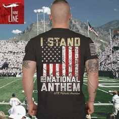 Stand /Remove Hat / Hand over Heart / God Bless America / and - Saying the National Anthem!!