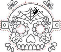 Image result for day of dead printable masks
