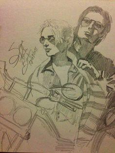 Couple handmade pencil drawing by me 2013. Suzanna Paulla Bomfim