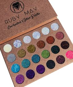 Enchanted Glitter Palette 24 Color Glitter – Ruby May Cosmetics Indie Makeup, Makeup Inspo, Makeup Brands, Best Makeup Products, Couture Makeup, Glitter Eyeshadow, Enchanted, Eye Makeup, Natural Hair Styles