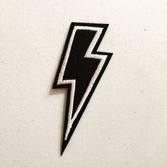 Coup de foudre correctif, Lightning Bolt Badge, bricolage broderie, Applique brodée, cadeau de la Culture Pop