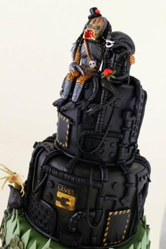 alien vs predator wedding cake
