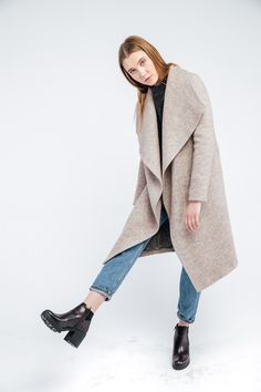 a406bbc363a Пальто оттенка бежевый меланж в магазине «OLGA ZNOSKO» на Ламбада-маркете