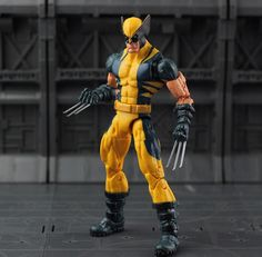 Marvel Legends Wolverine Logan Action Figure Yellow Classic Puck Series X Men //Price: $26.77 & FREE Shipping //     #ageofultron