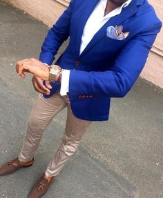 Wedding Suits men suits wedding -- Click visit link to see Blazer Outfits Men, Mens Fashion Blazer, Suit Fashion, Casual Outfits, Fashion Tag, Blazer Suit, Formal Casual Mens, Casual Wear For Men, Moda Formal