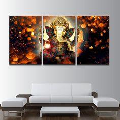 Hindu God Ganesha Modular Canvas Painting sale new