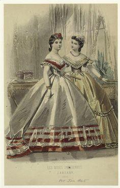 Les Modes Parisiennes, January 1865.