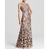 Tadashi Shoji Gown - Sleeveless Sequin Lace @bloomingdales