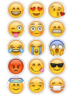 Emoji-Cupcake-Toppers-x-15-Wafer-paper-icing-sheets-2-circles