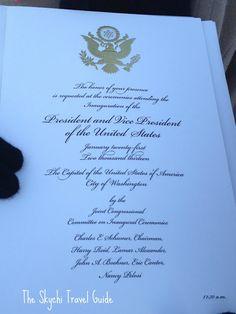 57th Presidential Inauguration Invitation