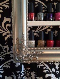 Nail Polish Decorative Shelf by RustyElegance on Etsy this is so your salon xx Nail Salon Decor, Beauty Salon Decor, Nail Salon Design, Beauty Bar, Beauty Salons, Nail Room, Nail Polish, Home Salon, Ideas Para Organizar