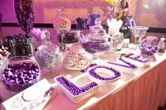Adrienne Bowen Events - Rancho Cucamonga, CA, United States. Purple Candy Table