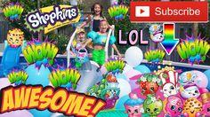 GIANT BALLOONS Pool Party SURPRISE!! Water Balloon Pop Huge Surprise SHO...