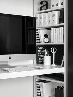 Trendy home office decor desk black white 50 ideas