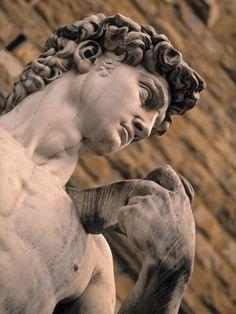 Statue of David, Piazza Della Signoria, Florence, Tuscany, Italy Photographic Print