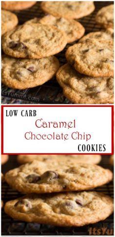 Low Carb Caramel Chocolate Chip Cookies   ItsYummi.com