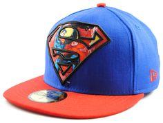 New Era Team Gold Superman Blau 59fifty 5950 Fitted Cap Basecap Kappe Herren